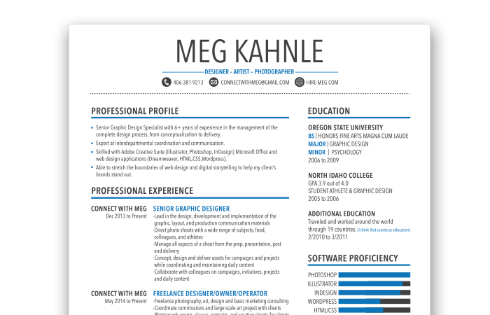 Design Resume  Senior Graphic Designer Resume